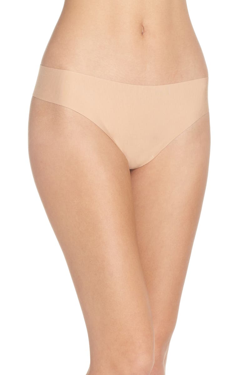 COMMANDO Butter Stretch Modal Thong, Main, color, BEIGE