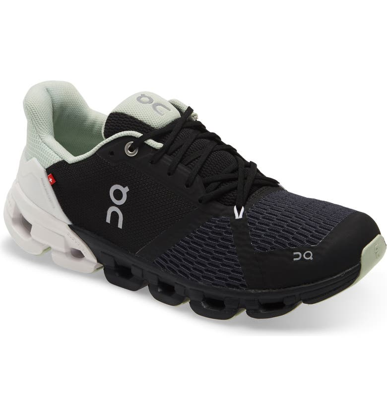 ON Cloudflyer Running Shoe, Main, color, BLACK/ WHITE MULTI