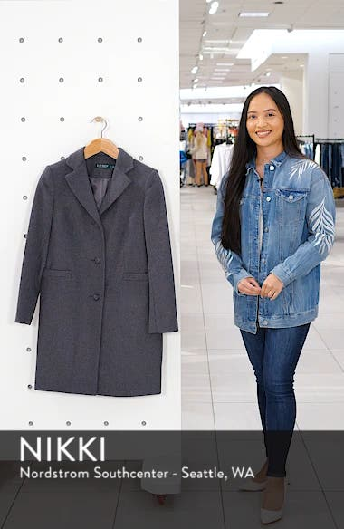Wool Blend Reefer Coat, sales video thumbnail