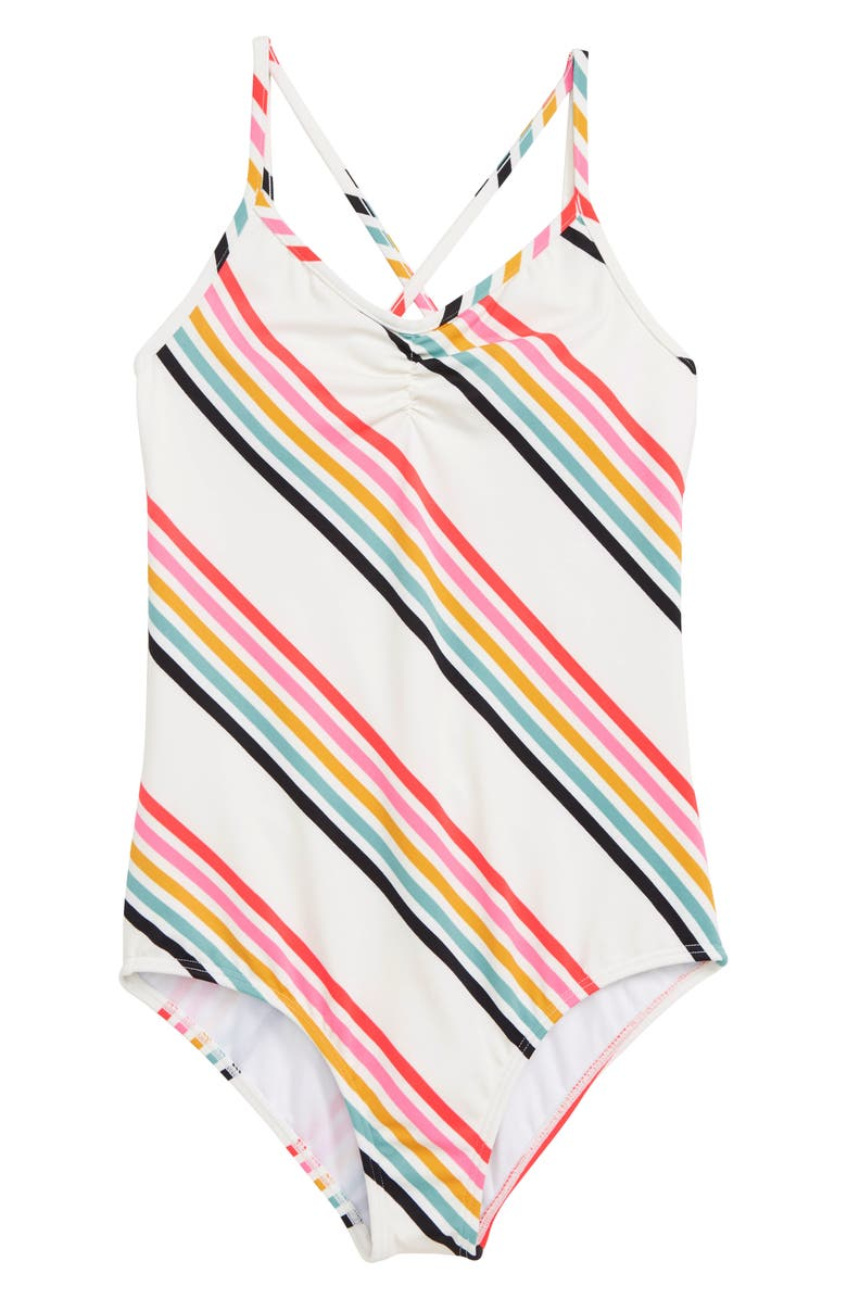 BILLABONG Seeing Rainbows One-Piece Swimsuit, Main, color, WHITE