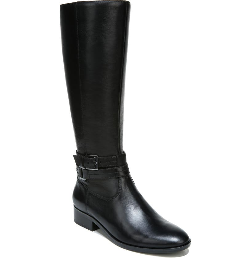 NATURALIZER Reed Riding Boot, Main, color, BLACK LEATHER
