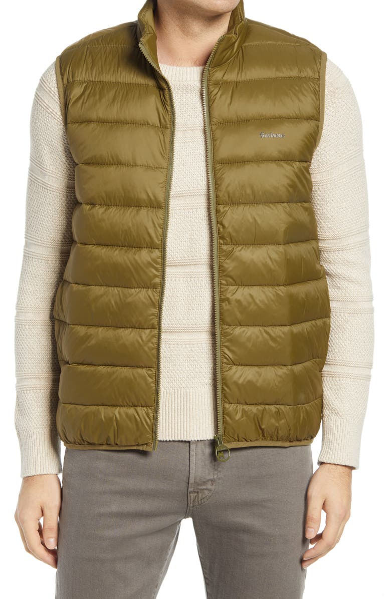 BARBOUR Gretby Quilted Vest, Main, color, FIR GREEN