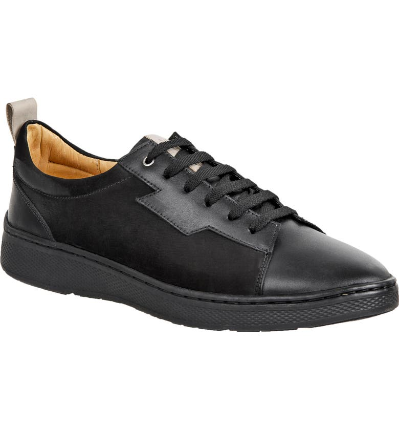 SANDRO MOSCOLONI Wally Leather Lace-Up Sneaker, Main, color, BLACK