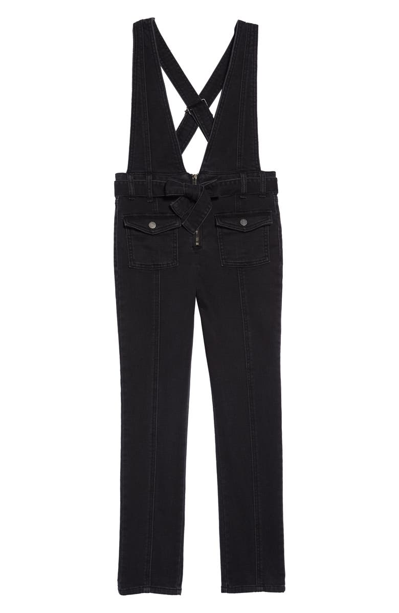 HABITUAL GIRL Habitual Ava Skinny Denim Jumpsuit, Main, color, 001