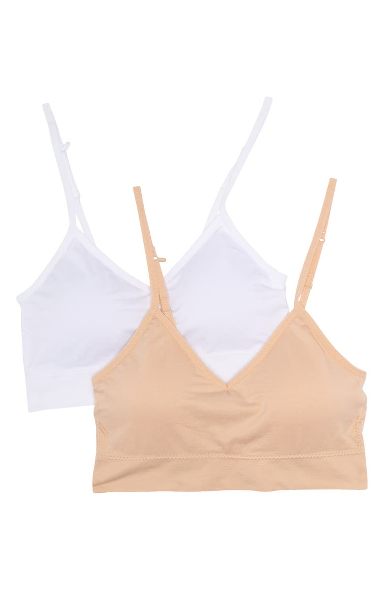 ABOUND Taylor Bralette - Pack of 2, Main, color, WHITE MULTI