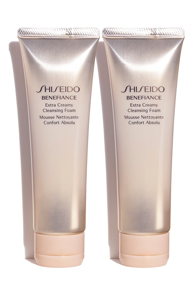 SHISEIDO Full Size Benefiance Extra Creamy Cleansing Foam Duo, Main, color, 000