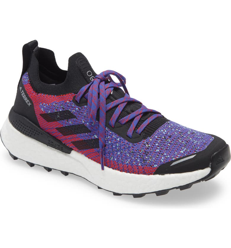 ADIDAS Terrex Two Ultra Parley Trail Running Shoe, Main, color, SCARLET/ CORE BLACK/ HAZY SKY