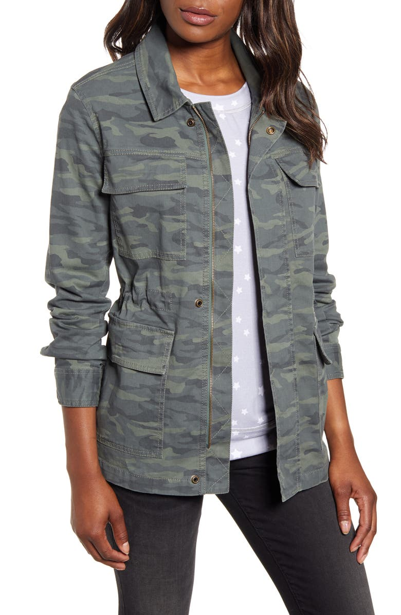 CASLON<SUP>®</SUP> Metallic Stitch Utility Jacket, Main, color, 310