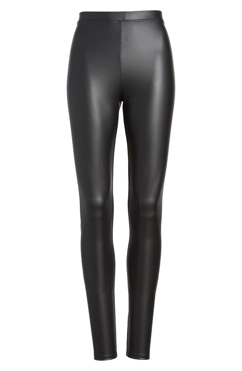 BP. Faux Leather Leggings, Main, color, 001
