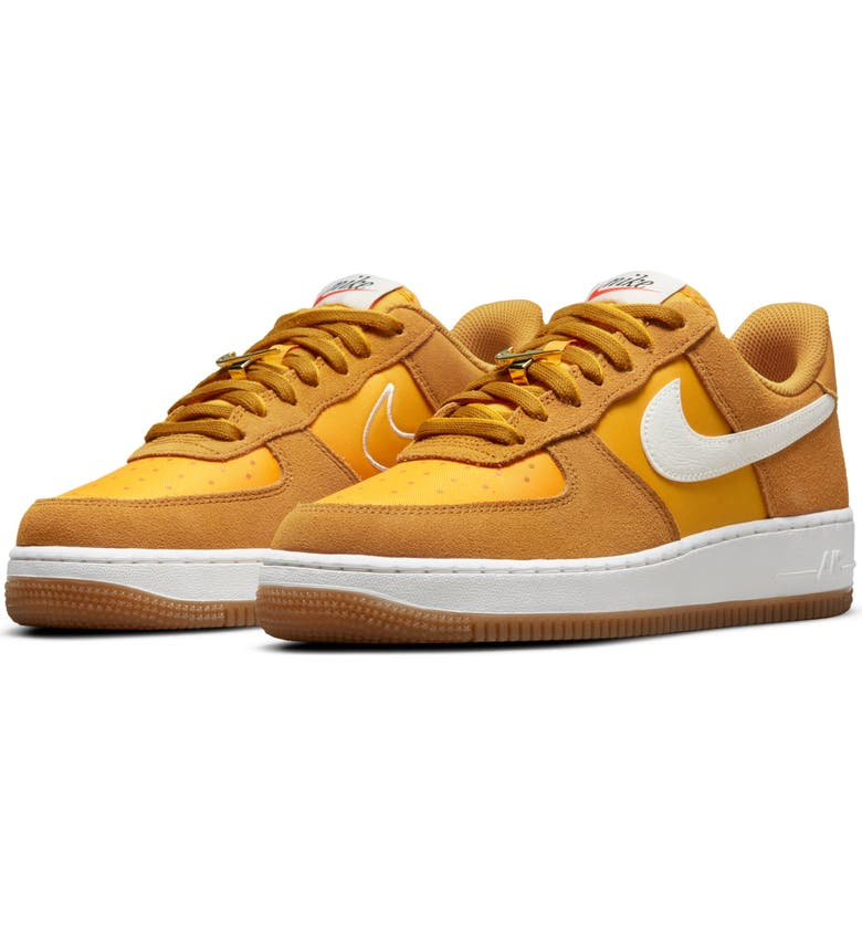 NIKE Air Force 1 '07 SE Sneaker, Main, color, GOLD SUEDE/ SAIL/ UNIVERSITY