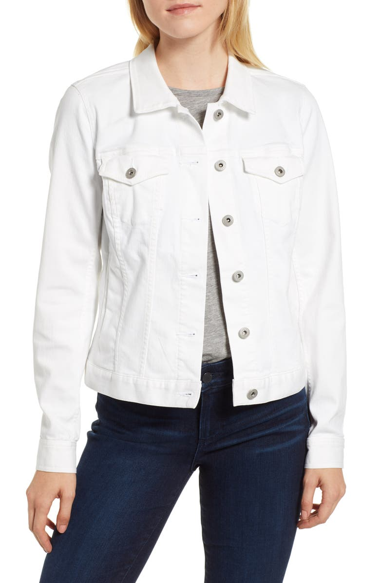 VINCE CAMUTO Two by Vince Camuto Denim Jacket, Main, color, ULTRA WHITE