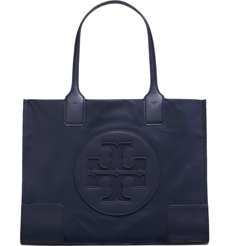 TORY BURCH Mini Ella Nylon Tote, Main, color, TORY NAVY
