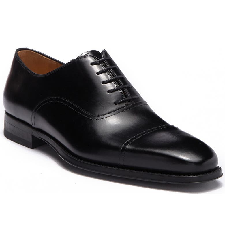 MAGNANNI Lucas Leather Oxford - Wide Width Available, Main, color, BLACK