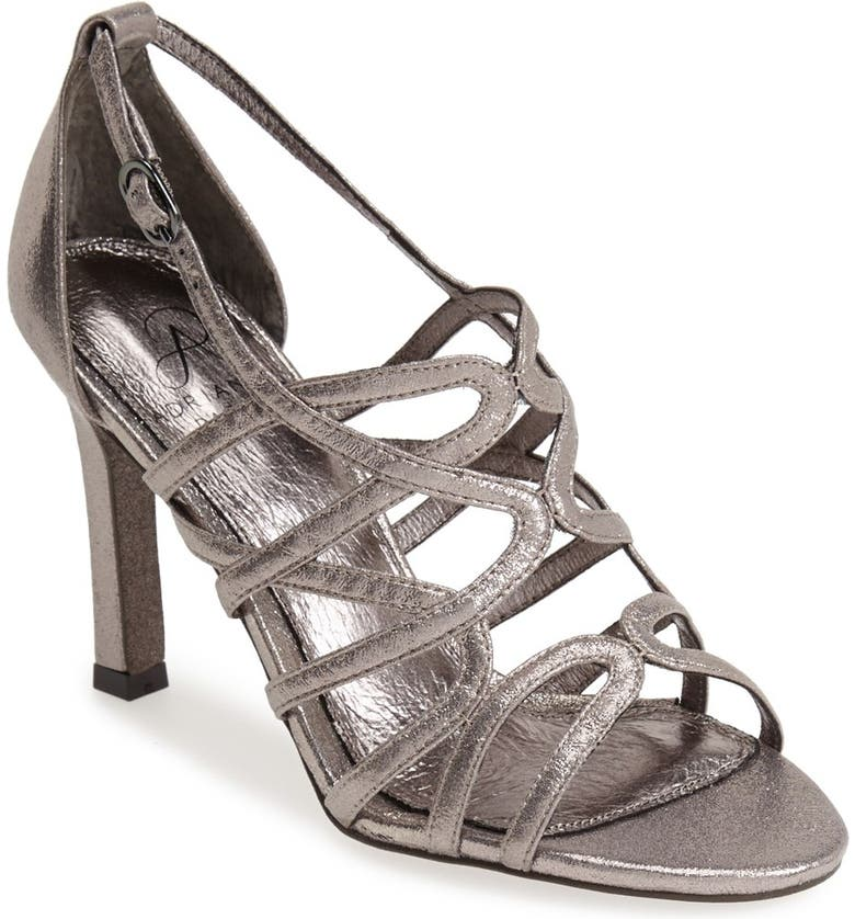 ADRIANNA PAPELL 'Elda' Metallic Sandal, Main, color, 041