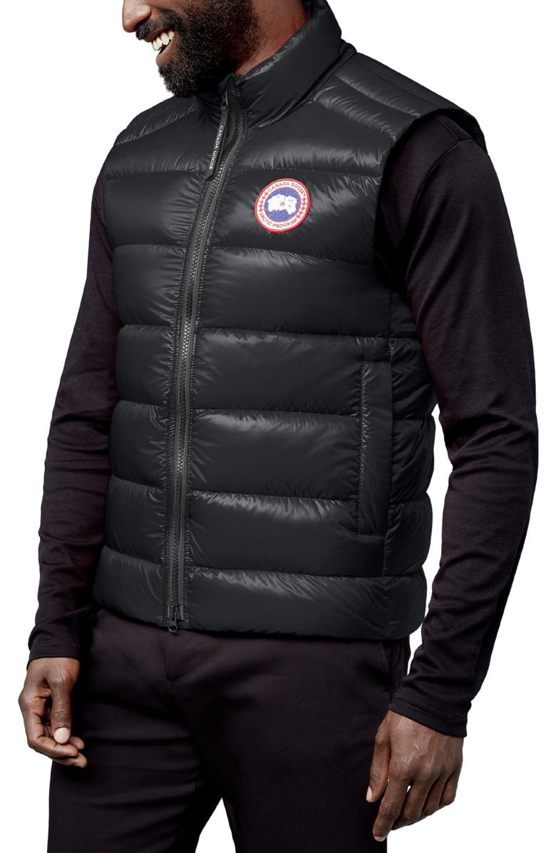 CANADA GOOSE Crofton Water Resistant Packable Quilted 750-Fill-Power Down Vest, Main, color, BLACK