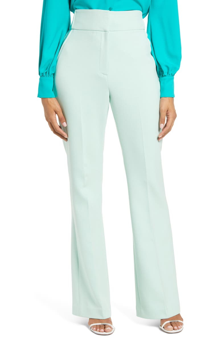 HALOGEN<SUP>®</SUP> x Atlantic-Pacific High Waist Flare Pants, Main, color, GREEN MIST