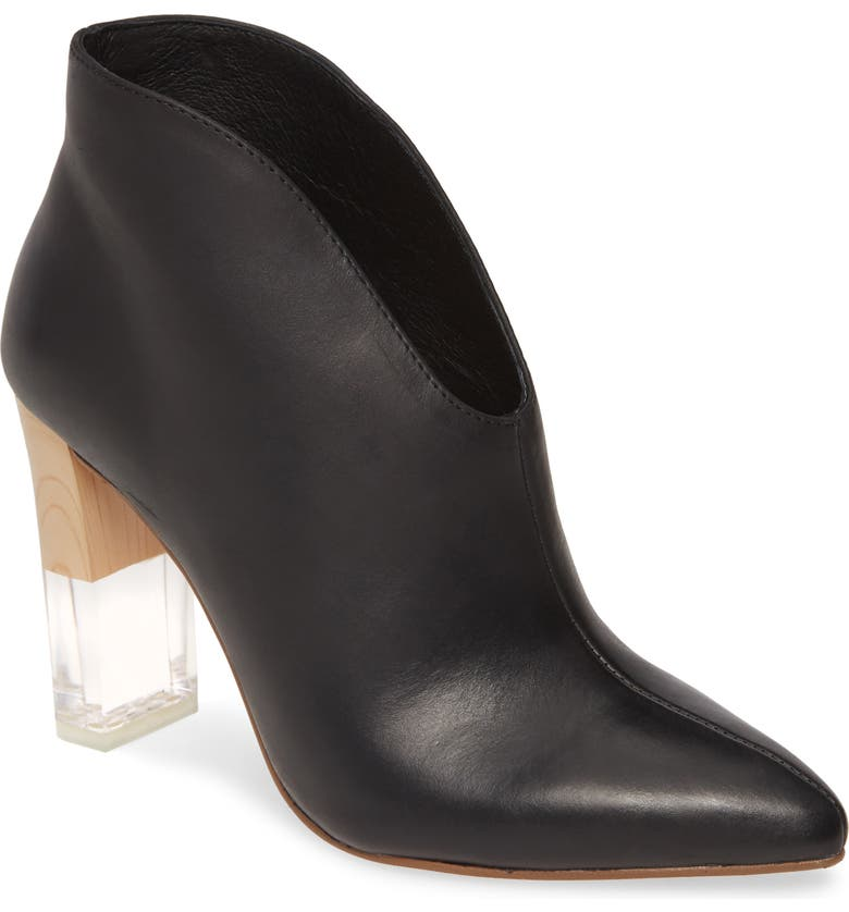 42 GOLD Kisses Bootie, Main, color, BLACK LEATHER