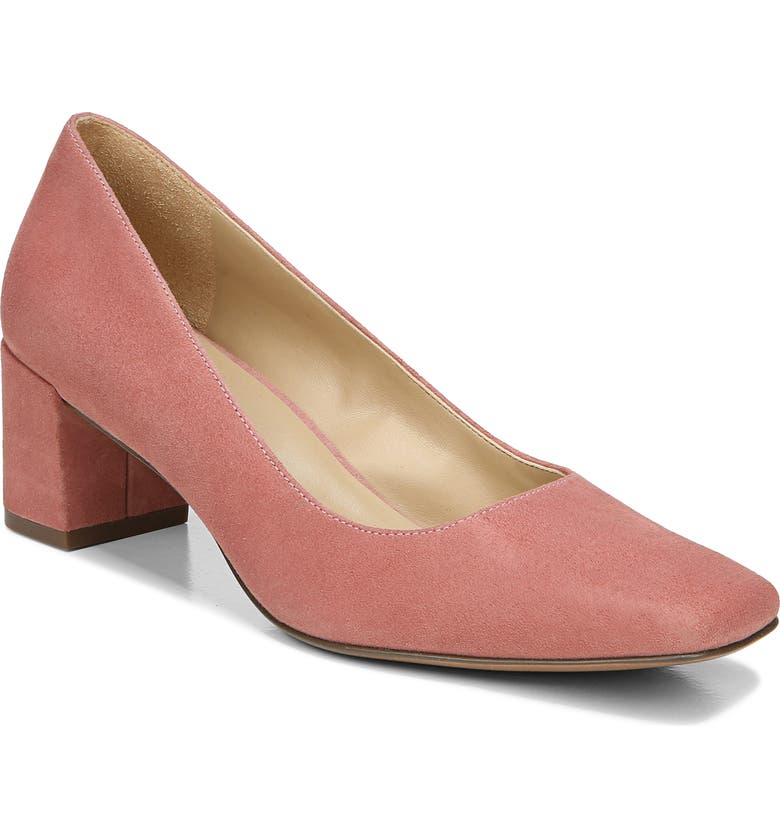 NATURALIZER Karina Square Toe Pump, Main, color, DUSTY CORAL LEATHER