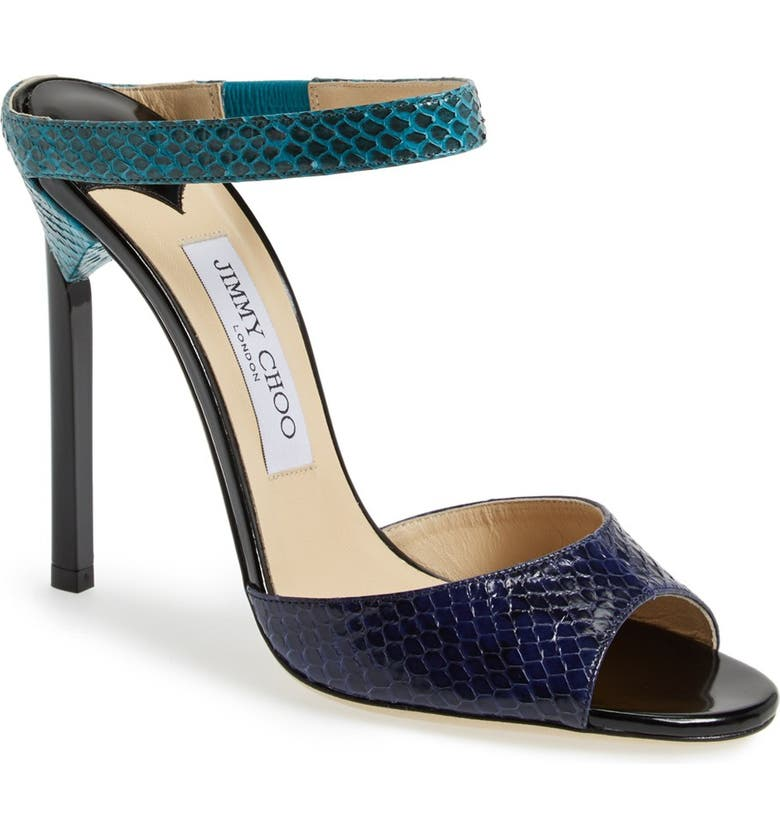 JIMMY CHOO 'Deckle' Leather Sandal, Main, color, COSMO