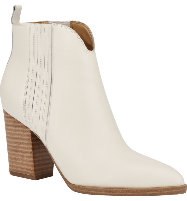 MARC FISHER LTD Annabel Bootie, Main, color, CHIC CREAM LEATHER