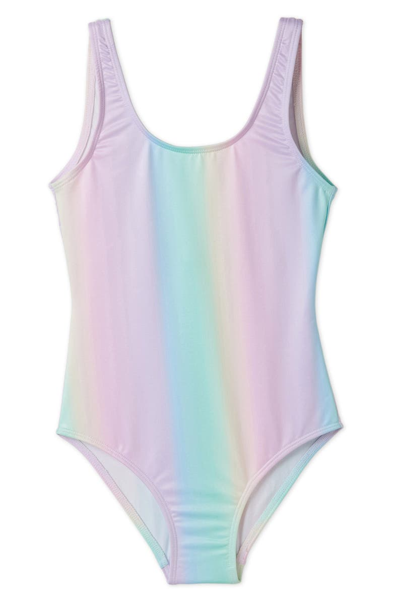 STELLA COVE Pastel Rainbow One-Piece Swimsuit, Main, color, 650