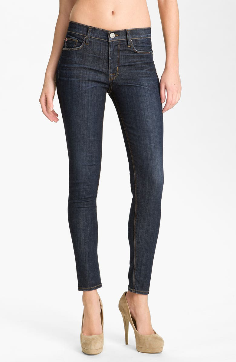 HUDSON JEANS 'Nico' Mid Rise Skinny Jeans, Main, color, 400