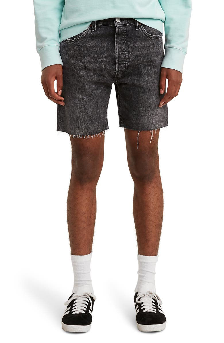 LEVI'S<SUP>®</SUP> 501<sup>®</sup> '93 Cutoff Denim Shorts, Main, color, 001