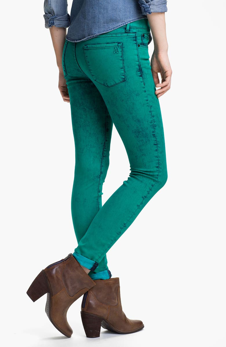 ARTICLES OF SOCIETY Acid Wash Skinny Jeans, Main, color, 320