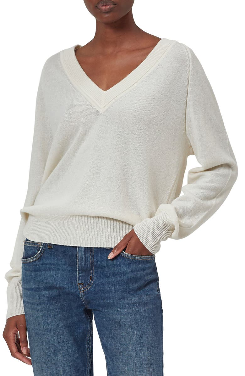 EQUIPMENT Madalene Cashmere Sweater, Main, color, NATURE WHITE