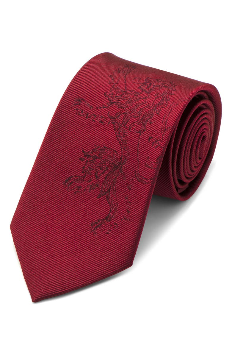 CUFFLINKS, INC. Game of Thrones Lannister Silk Tie, Main, color, RED