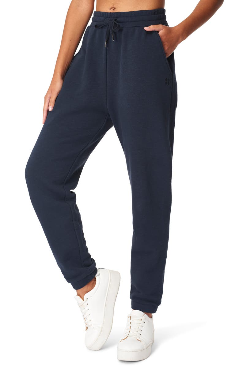 SWEATY BETTY Essential Pocket Joggers, Main, color, NAVY BLUE