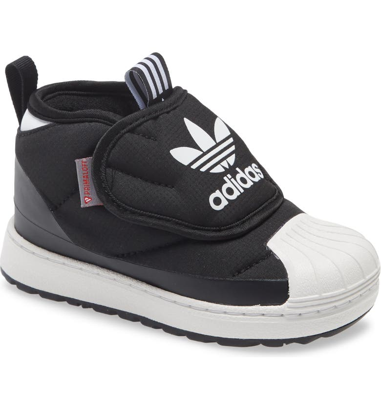 ADIDAS Superstar Water Resistant Insulated Bootie, Main, color, CORE BLACK/ CRYSTAL WHITE