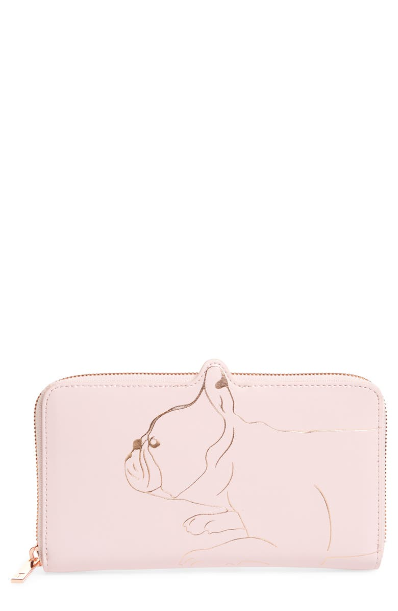 TED BAKER LONDON Carryn Matinée Leather Wallet, Main, color, 683