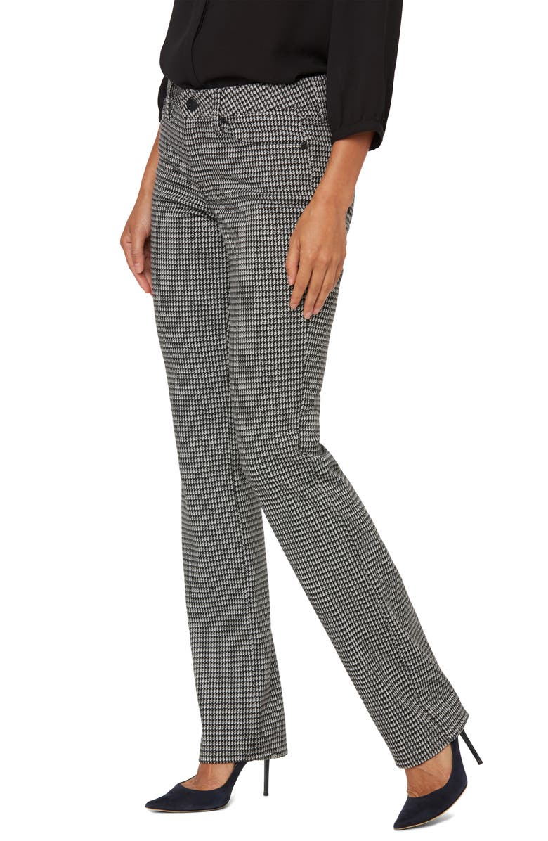 NYDJ Marilyn Houndstooth Straight Leg Pants, Main, color, JEFFERSON HOUNDSTOOTH