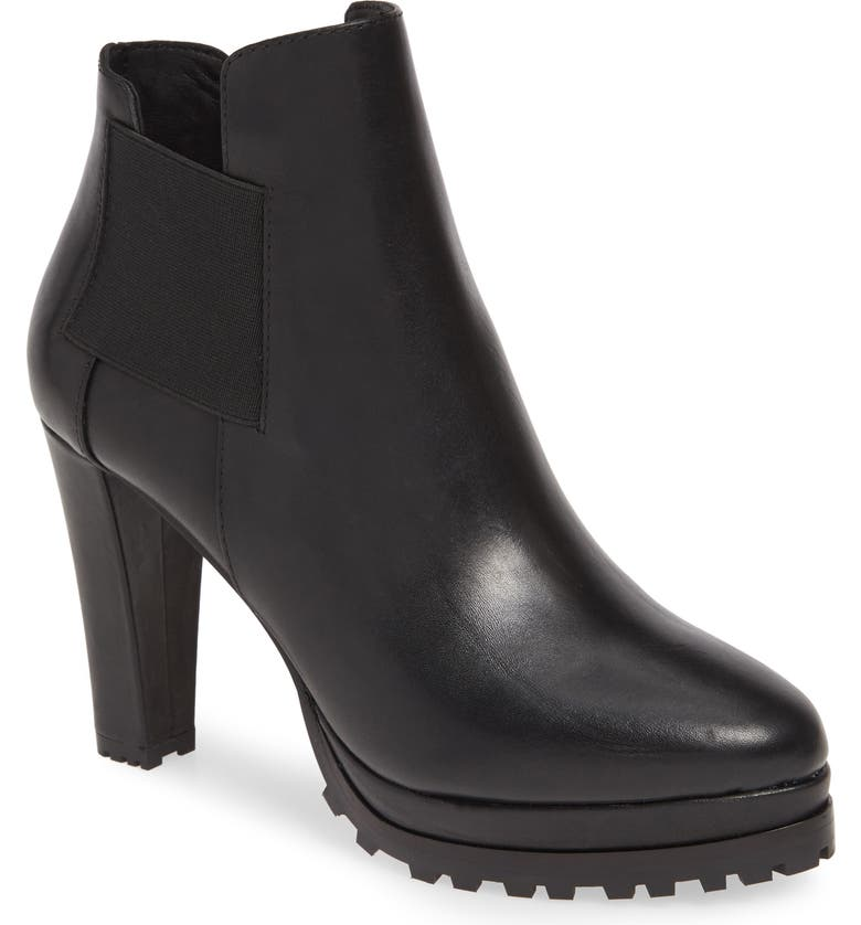 ALLSAINTS Sarris Bootie, Main, color, BLACK LEATHER