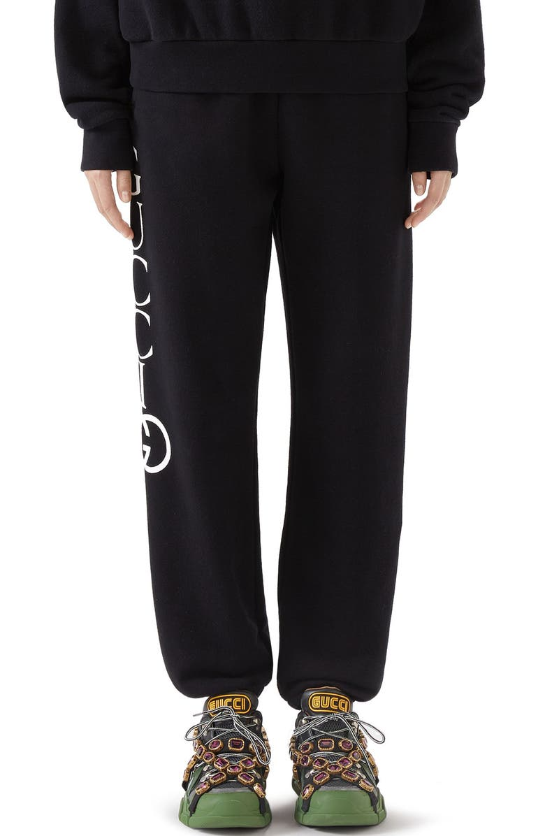 GUCCI Logo Cotton Sweatpants, Main, color, 013