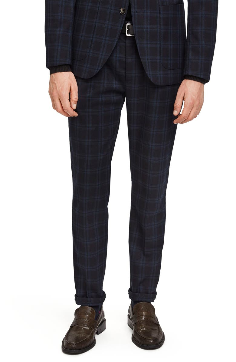 SCOTCH & SODA Blake Slim Fit Check Trousers, Main, color, 002