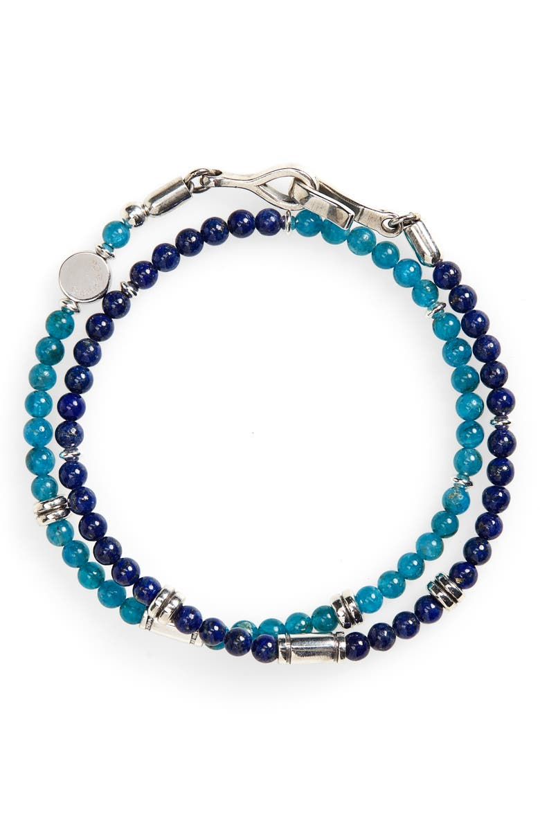 CAPUTO & CO. Stone Bead Wrap Bracelet, Main, color, 405