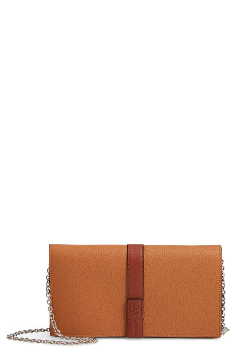 LOEWE Leather Wallet on a Chain, Main, color, 250