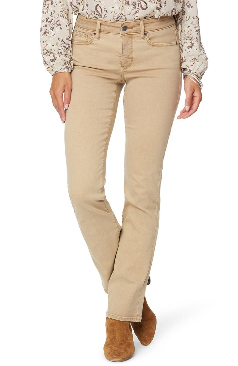 NYDJ Marilyn Straight Leg Stretch Jeans, Main, color, TOFFEE
