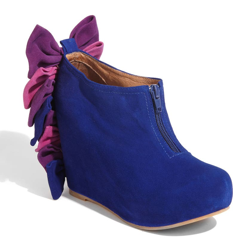 JEFFREY CAMPBELL 'Backbow' Bootie, Main, color, BLUE SUEDE