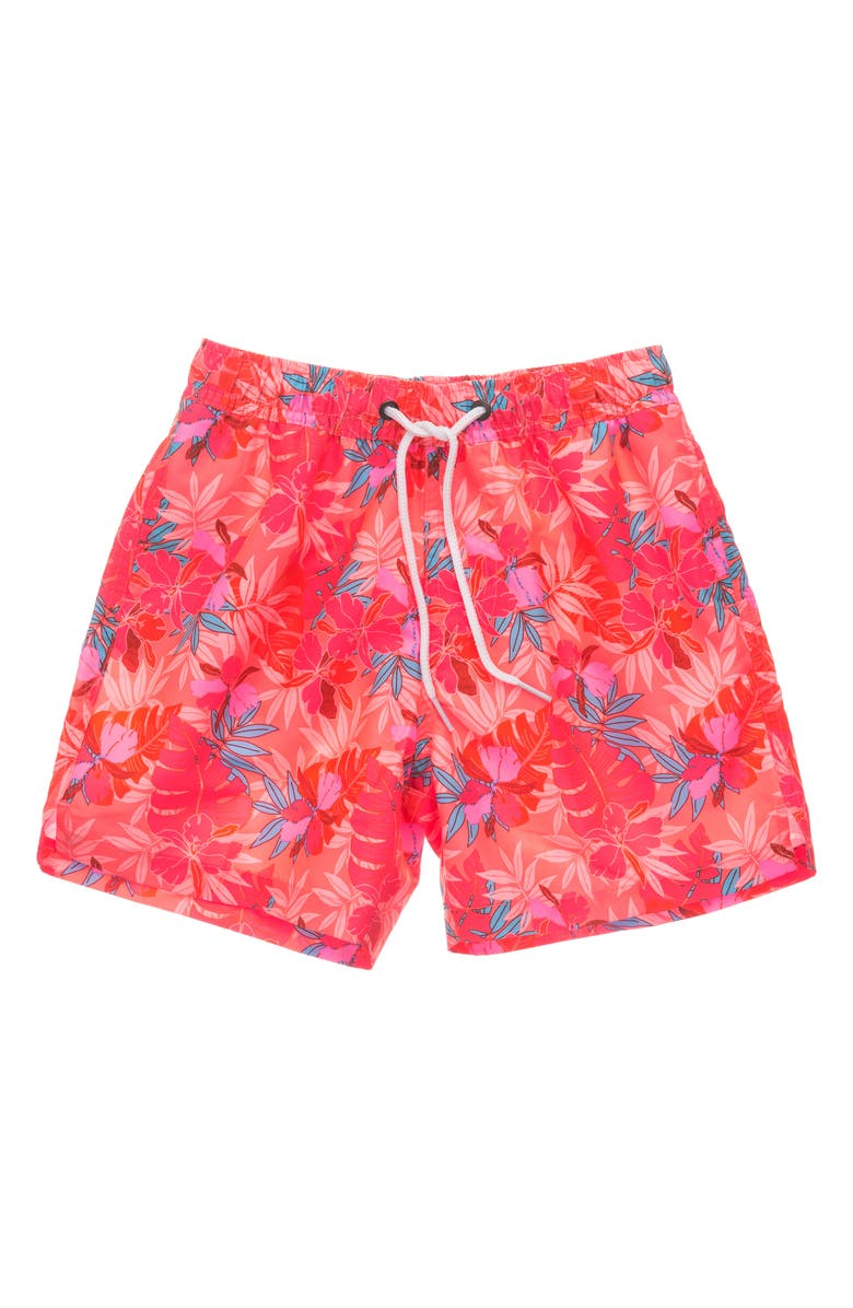 SNAPPER ROCK Kids' Tropical Punch Volley Swim Trunks, Main, color, RED