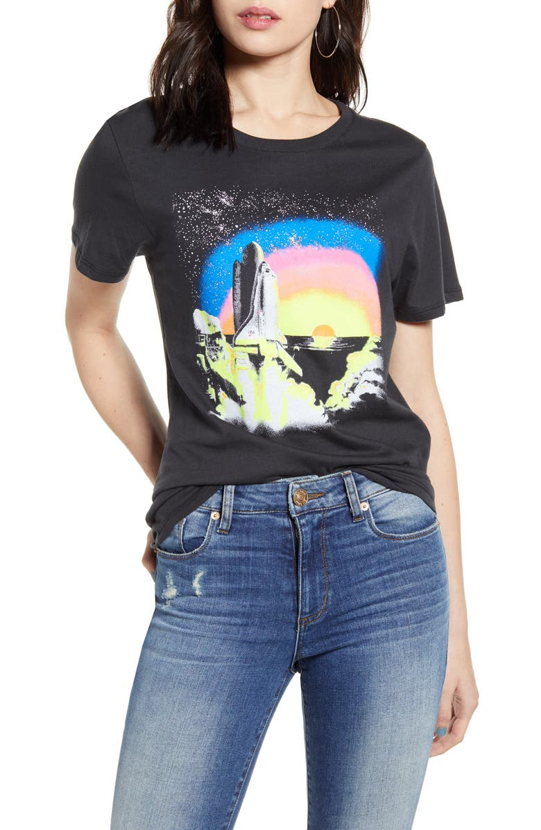 PRINCE PETER Shuttle Rainbow Graphic Tee, Main, color, 005