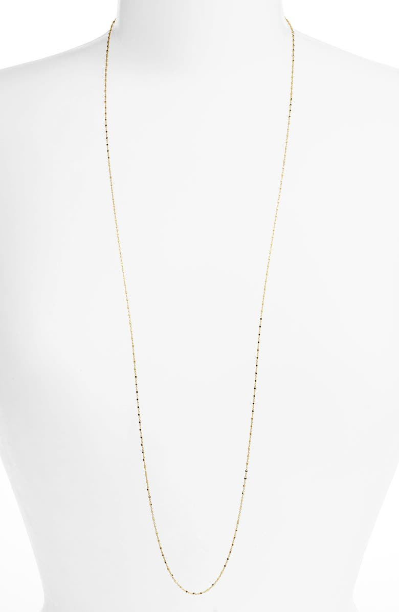 BONY LEVY 14K Gold Long Beaded Chain Necklace, Main, color, YELLOW GOLD