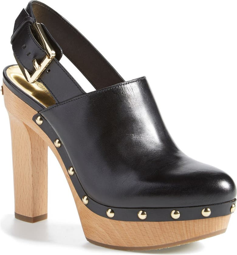 MICHAEL MICHAEL KORS 'Beatrice' Platform Clog, Main, color, 001