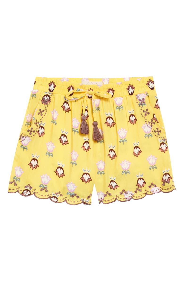 PEEK AREN'T YOU CURIOUS Isabella Scalloped Floral Shorts, Main, color, 700