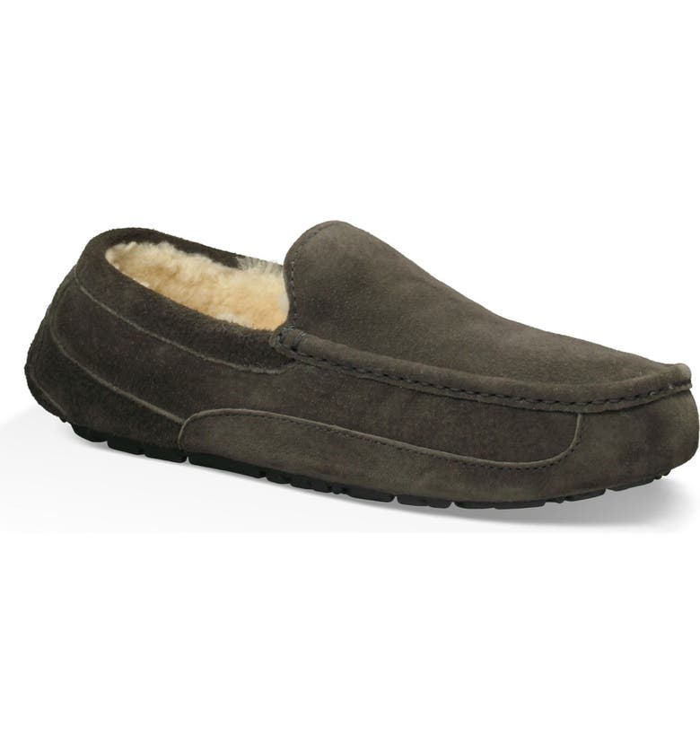 UGG<SUP>®</SUP> Ascot Slipper, Main, color, CHARCOAL SUEDE