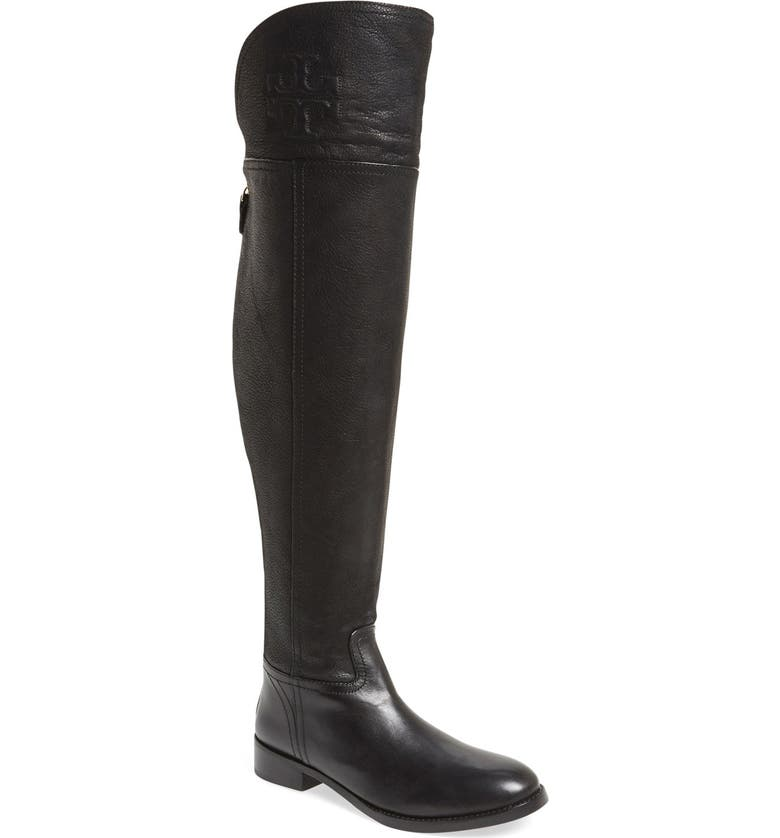 TORY BURCH 'Simone' Over the Knee Boot, Main, color, 001