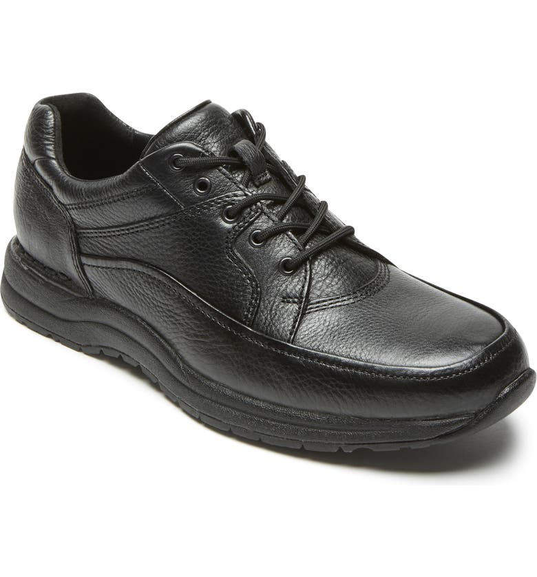 ROCKPORT Edge Hill Apron Toe Sneaker, Main, color, BLACK LEATHER