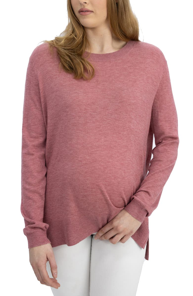 ANGEL MATERNITY Oversize Maternity Sweater, Main, color, ROSE PINK
